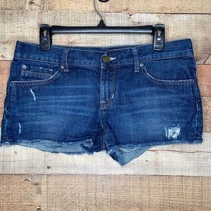 Gap | Limited Edition Distressed Denim Shorts 28/6